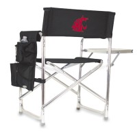 Washington State University Sports Chair - Black Embroidered