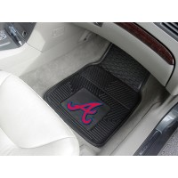 MLB - Atlanta Braves Heavy Duty 2-Piece Vinyl Car Mats