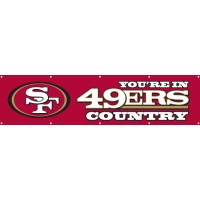BSF Forty-niners Giant 8-Foot X 2-Foot Nylon Banner