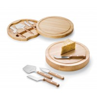 Picnic Time Circo - Cheese Board With Tools Round