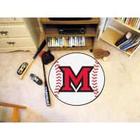 Miami of Ohio Baseball Rug