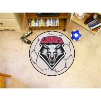 University of New Mexico Soccer Ball Rug