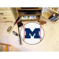 University of Michigan Baseball Rug