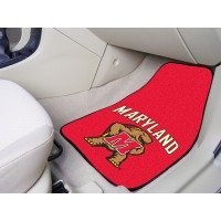 University of Maryland 2 Piece Front Car Mats