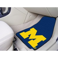 University of Michigan 2 Piece Front Car Mats