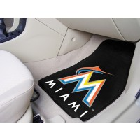 MLB - Miami Marlins 2 Piece Front Car Mats