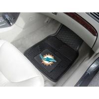 NFL - Miami Dolphins Heavy Duty 2-Piece Vinyl Car Mats