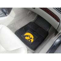 University of Iowa Heavy Duty 2-Piece Vinyl Car Mats
