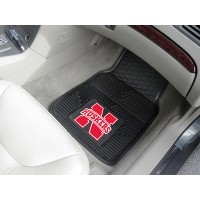 University of Nebraska Heavy Duty 2-Piece Vinyl Car Mats