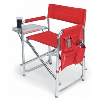 Picnic Time Sport Chair - Red W/Chrome Frame