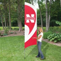 TTNEB Nebraska Tall Team Flag with pole