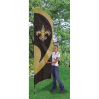TTNO Saints Tall Team Flag with pole