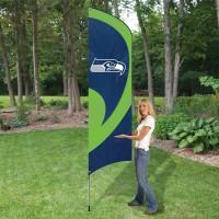 TTSE Seahawks Tall Team Flag with pole