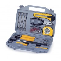 Picnic Time Tool Kit - 75 Pc Set - Grey With Yellow Tools