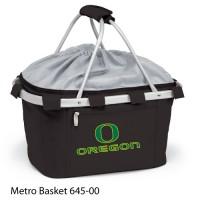 University of Oregon Printed Metro Basket Picnic Basket Black