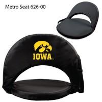 University of Iowa Printed Metro Seat Recliner Black