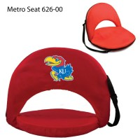 University of Kansas Printed Metro Seat Recliner Red