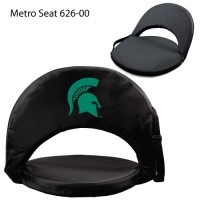 Michigan State Printed Metro Seat Recliner Black