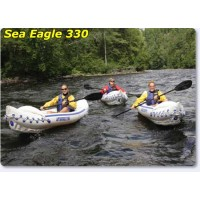 Sea Eagle 330 Inflatable Kayak Pro Package Includes Seats Paddles and Pump
