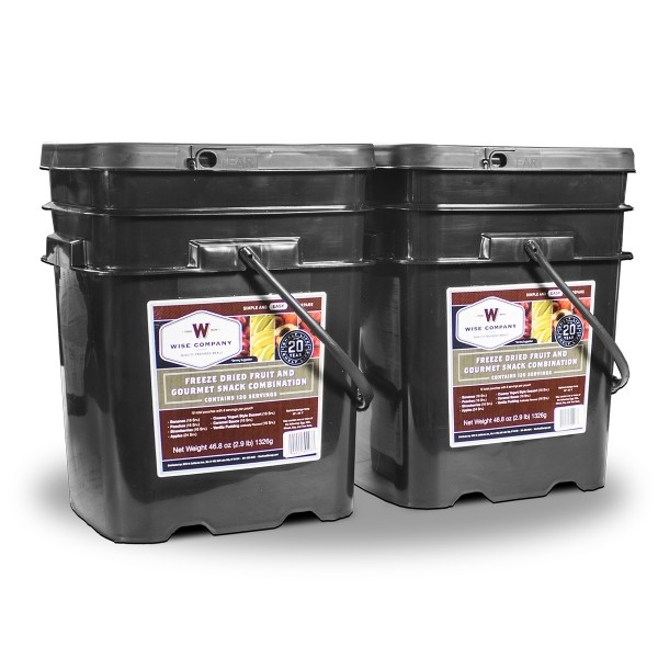 240 Serving Wise Freeze Dried Fruit and Gourmet Snack Combination