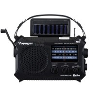 Voyager AM/FM NOAA Weather Dynamo-Solar-AC Cell Charger
