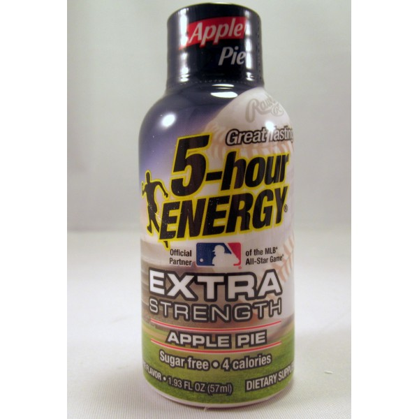 5-Hour Energy Extra Strength - Apple Pie (12) Sugar Free - (Samples) NEW