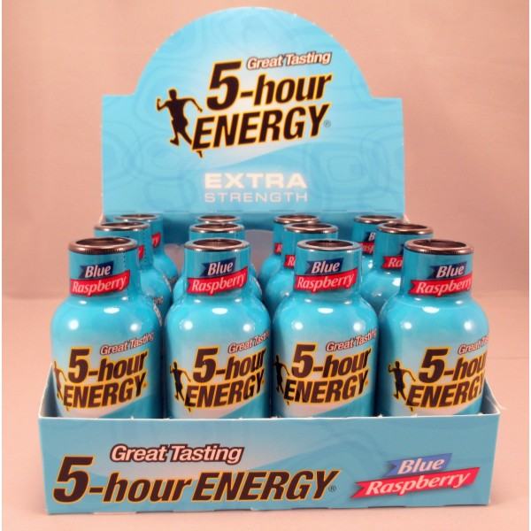 5 Hour Energy Blue Raspberry Extra Strength 5-hour ENERGY Shot (12) - NEW