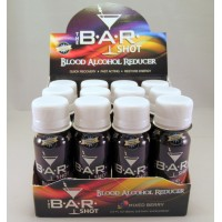 B*A*R Shot - Blood Alcohol Reducer - Quick Recovery - Fast Acting (12) Restore Energy
