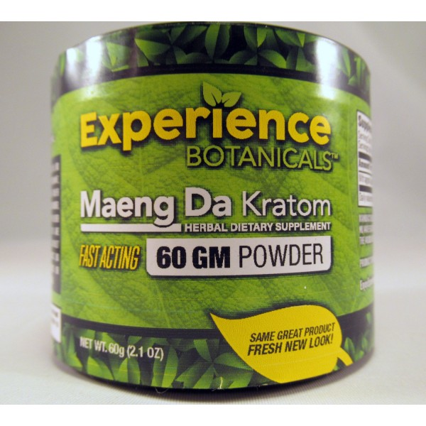 Experience Botanicals Fast Acting Maeng Da Powder (60GM) Same Great Product ~ Fresh New Look