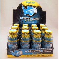 Rhino Rush Energy Drink - Blue Raspberry (12) with Ephedra