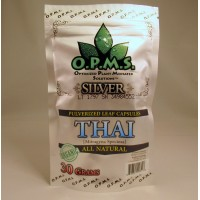 O.P.M.S. Silver Thai - All Natural Caps (60ct .5gr)
