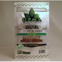 O.P.M.S. Silver Malay Special Reserve - All Natural Organic POWDER (15gr)