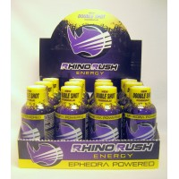 Rhino Rush Energy Drink - Grape (12) with Ephedra