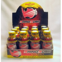 Rhino Rush Energy Drink - Strawberry/Kiwi (12) with Ephedra