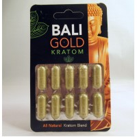 Bali Gold - Maeng Da - All Natural Blend - Capsule Blister Pack (10x500mg)