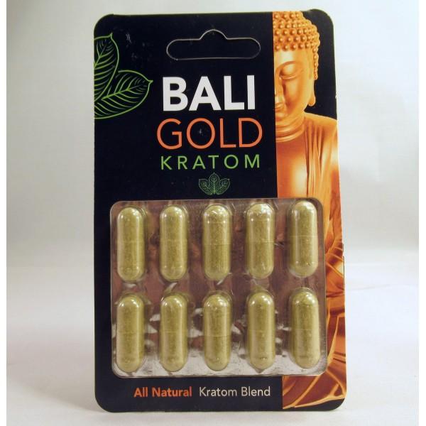 Bali Gold - Maeng Da - All Natural Blend - Capsule Blister Pack (10x500mg) (New)