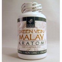Whole Herbs - Green Vein Malay Capsules - Natural | Non-GMO | Organic (120ea)