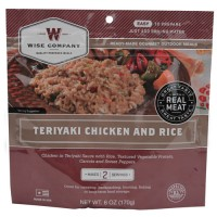 Wise Foods Teriyaki Chicken w/Rice 2 Serving Pouch (6 Pack)