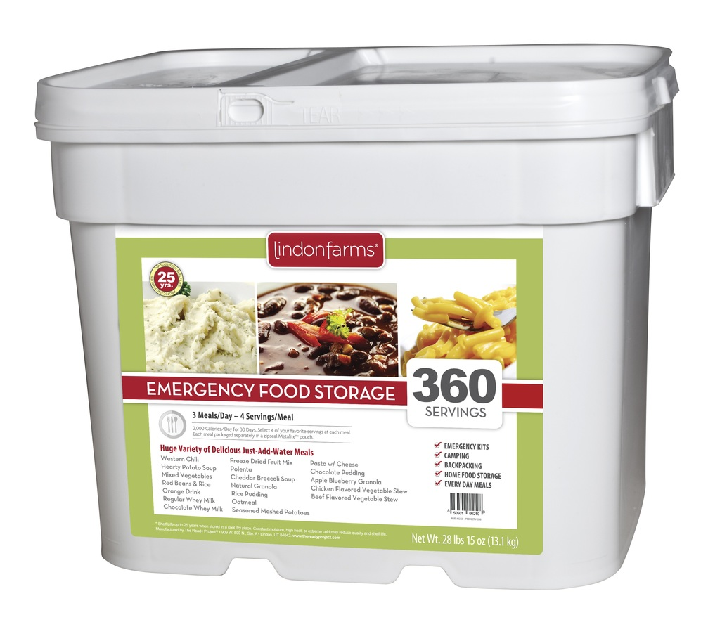 Relief Foods 214 Serving – Entrée & Breakfast Bucket Combo