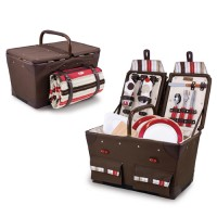 Picnic Time Pioneer-Moka Picnic Basket for 2