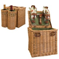 Picnic Time Vino - Pine Green w/Nouveau Grape Picnic Basket