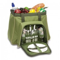 Picnic Time Toluca Picnic Tote for 2 - Pine Green