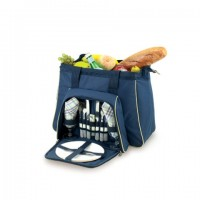 Picnic Time Toluca Picnic Tote for 2 - Navy