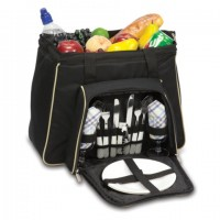 Picnic Time Toluca Picnic Tote for 2 - Black