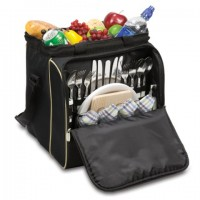 Picnic Time Verdugo Picnic Tote for 4 - Black