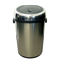 iTouchless 18 Gallon Large Commercial Size Stainless Steel Automatic Sensor Touchless Trash Can