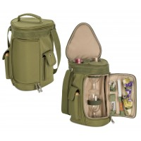 Picnic Time Meritage - Olive Deluxe Two Bottle Wine Tote
