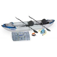 Sea Eagle 420X 14ft Kayak Pro Package Includes Seats Paddles and Pump 2-3 Adults or 855 lbs