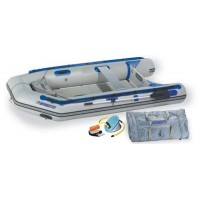Sea Eagle 10ft 6in Sport Runabout Boat with Rigid Inflatable Keel Plastic Floor Deluxe Package