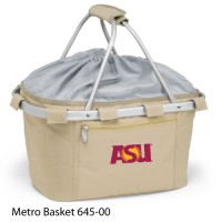 Arizona State Embroidered Metro Basket Picnic Basket Beige